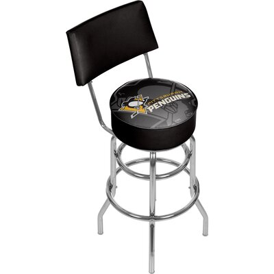 NHL Watermark 31 Swivel Bar Stool NHL Team: Pittsburgh Penguins