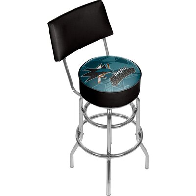 NHL Watermark 31 Swivel Bar Stool NHL Team: San Jose Sharks