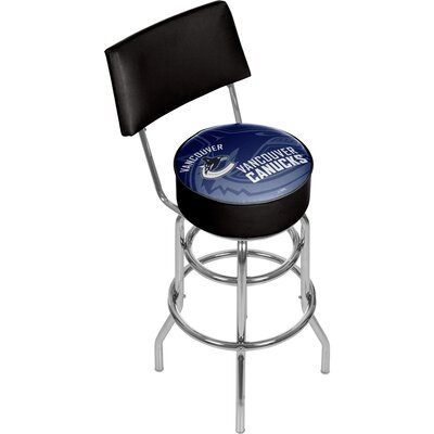NHL Watermark 31 Swivel Bar Stool NHL Team: Vancouver Canucks