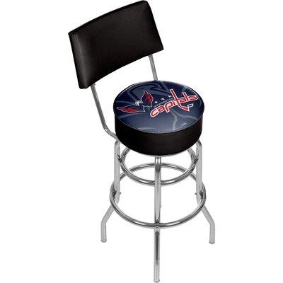 NHL Watermark 31 Swivel Bar Stool NHL Team: Washington Capitals