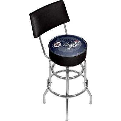 NHL Watermark 31 Swivel Bar Stool NHL Team: Winnipeg Jets