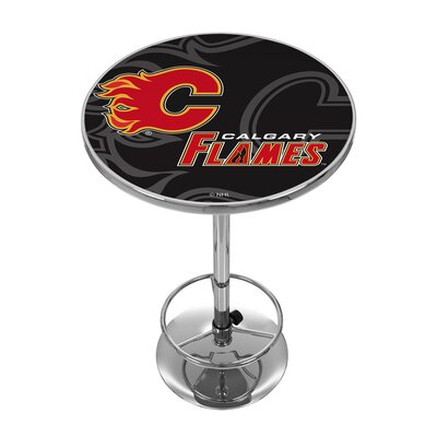 NHL Watermark Pub Table NHL Team: Calgary Flames