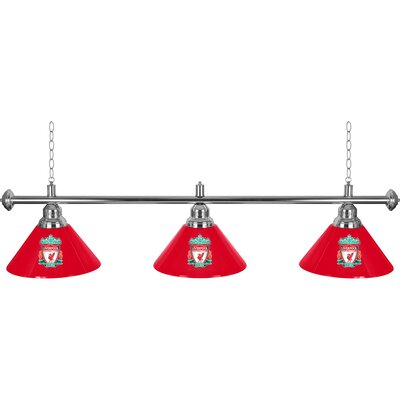 Premier League 3 Shade 3-Light Pool Table Light Premier League Team: Liverpool