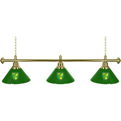 Premier League 3 Shade 3-Light Pool Table Light Premier League Team: Norwich City