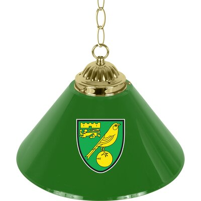 Premier League Single Shade 1-Light Mini Pendant Premier League Team: Norwich City