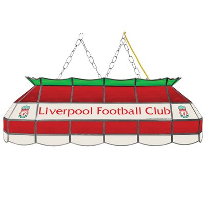 Premier League Stained Glass 3-Light Pool Table Light Premier League Team: Liverpool