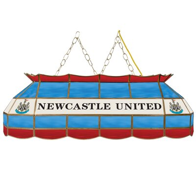 Premier League Stained Glass 3-Light Pool Table Light Premier League Team: Newcastle United