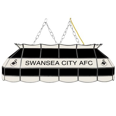 Premier League Stained Glass 3-Light Pool Table Light Premier League Team: Swansea City