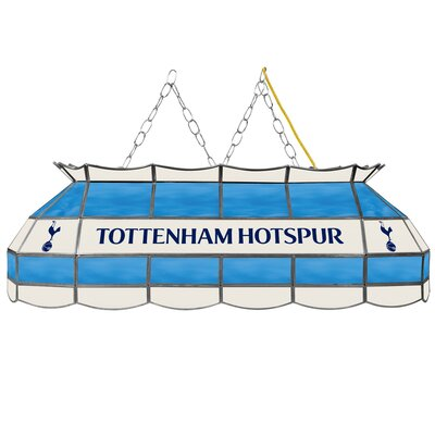 Premier League Stained Glass 3-Light Pool Table Light Premier League Team: Tottenham Hotspurs