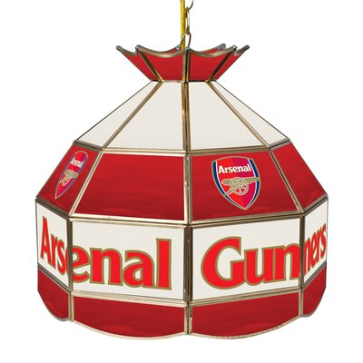 Premier League Stained Glass 1-Light Pool Table Light Premier League Team: Arsenal