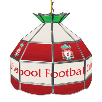 Premier League Stained Glass 1-Light Pool Table Light Premier League Team: Liverpool
