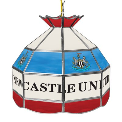 Premier League Stained Glass 1-Light Pool Table Light Premier League Team: Newcastle United