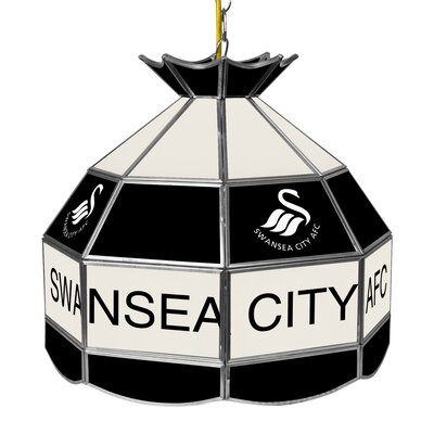 Premier League Stained Glass 1-Light Pool Table Light Premier League Team: Swansea City