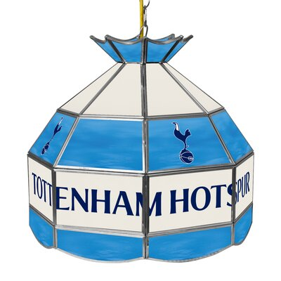 Premier League Stained Glass 1-Light Pool Table Light Premier League Team: Tottenham Hotspurs