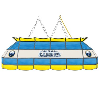 NHL Stained Glass 3-Light Pool Table Light NHL Team: Buffalo Sabres