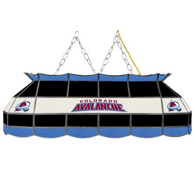 NHL Stained Glass 3-Light Pool Table Light NHL Team: Colorado Avalanche