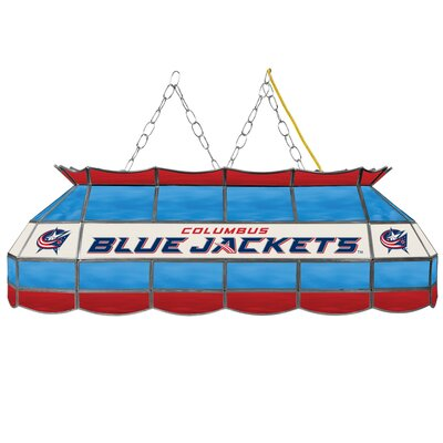 NHL Stained Glass 3-Light Pool Table Light NHL Team: Columbus Blue Jackets