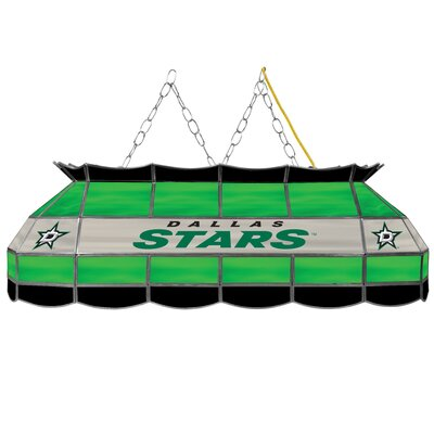 NHL Stained Glass 3-Light Pool Table Light NHL Team: Dallas Stars