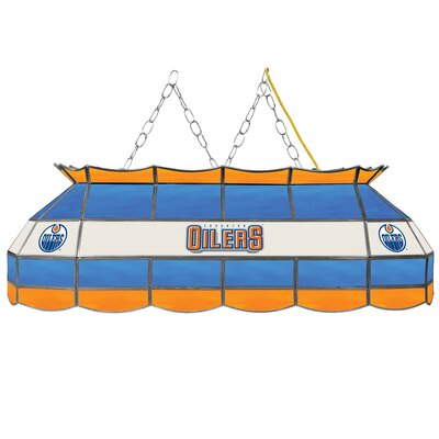 NHL Stained Glass 3-Light Pool Table Light NHL Team: Edmonton Oilers