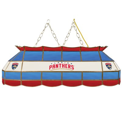 NHL Stained Glass 3-Light Pool Table Light NHL Team: Florida Panthers