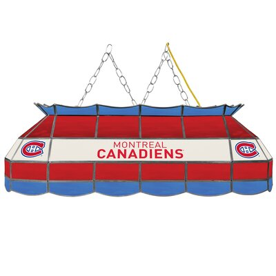 NHL Stained Glass 3-Light Pool Table Light NHL Team: Montreal Canadiens