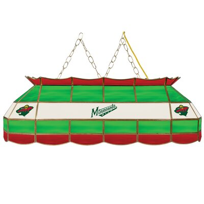 NHL Stained Glass 3-Light Pool Table Light NHL Team: Minnesota Wild