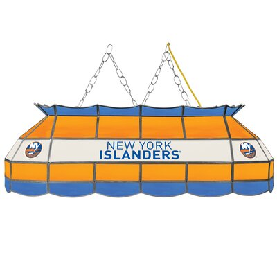 NHL Stained Glass 3-Light Pool Table Light NHL Team: New York Islanders