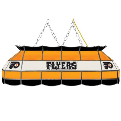NHL Stained Glass 3-Light Pool Table Light NHL Team: Philadelphia Flyers