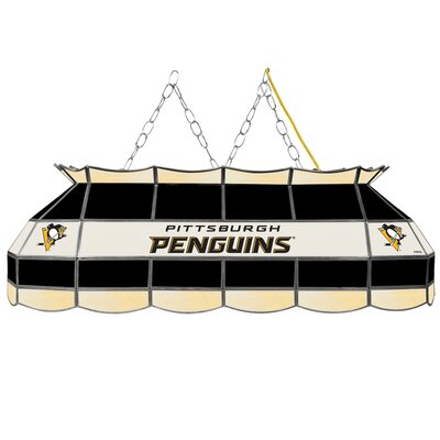 NHL Stained Glass 3-Light Pool Table Light NHL Team: Pittsburgh Penguins
