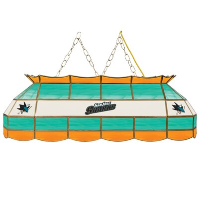 NHL Stained Glass 3-Light Pool Table Light NHL Team: San Jose Sharks