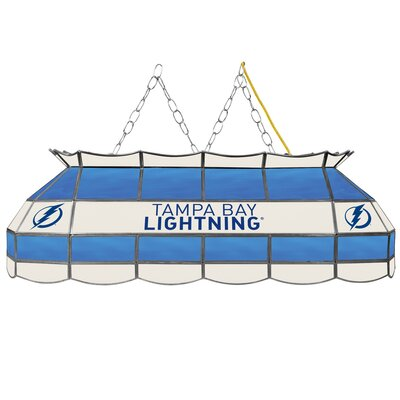 NHL Stained Glass 3-Light Pool Table Light NHL Team: Tampa Bay Lightning
