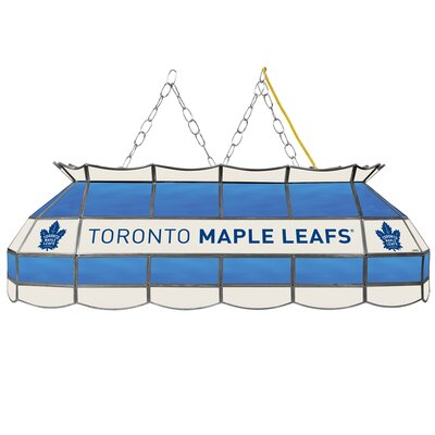 NHL Stained Glass 3-Light Pool Table Light NHL Team: Toronto Maple Leafs