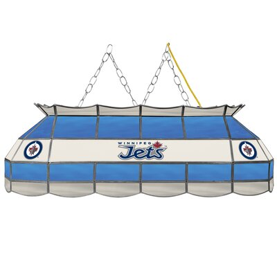 NHL Stained Glass 3-Light Pool Table Light NHL Team: Winnipeg Jets