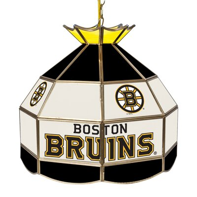 NHL Stained Glass 1-Light Bowl Pendant NHL Team: Boston Bruins