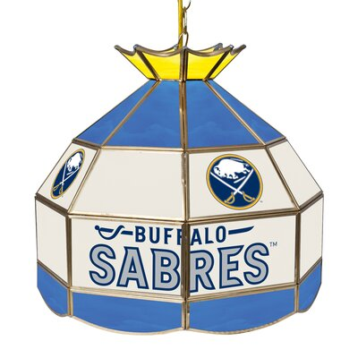 NHL Stained Glass 1-Light Bowl Pendant NHL Team: Buffalo Sabres