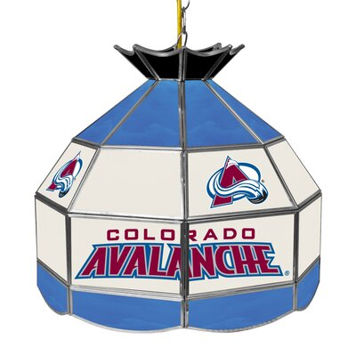 NHL Stained Glass 1-Light Bowl Pendant NHL Team: Colorado Avalanche