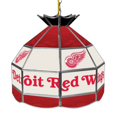 NHL Stained Glass 1-Light Bowl Pendant NHL Team: Detroit Red Wings