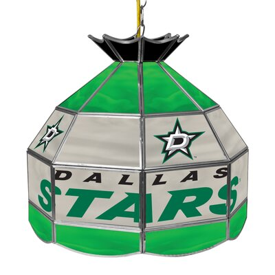 NHL Stained Glass 1-Light Bowl Pendant NHL Team: Dallas Stars