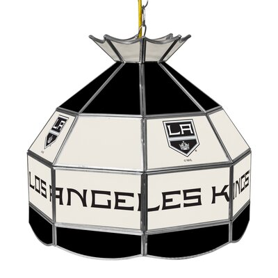 NHL Stained Glass 1-Light Bowl Pendant NHL Team: Los Angeles Kings