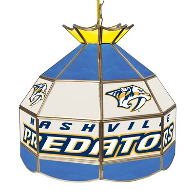 NHL Stained Glass 1-Light Bowl Pendant NHL Team: Nashville Predators