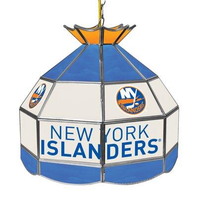 NHL Stained Glass 1-Light Bowl Pendant NHL Team: New York Islanders