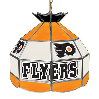 NHL Stained Glass 1-Light Bowl Pendant NHL Team: Philadelphia Flyers