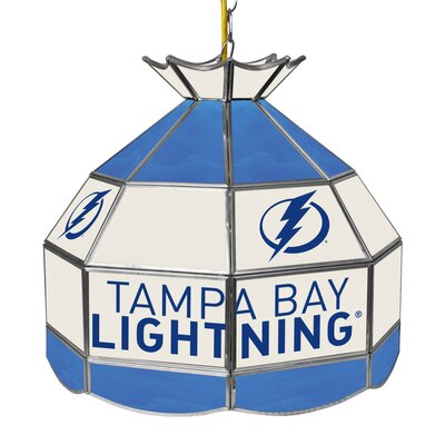 NHL Stained Glass 1-Light Bowl Pendant NHL Team: Tampa Bay Lightning