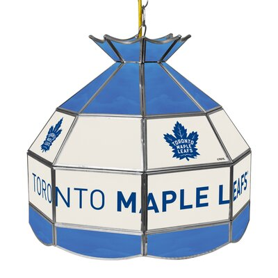 NHL Stained Glass 1-Light Bowl Pendant NHL Team: Toronto Maple Leafs