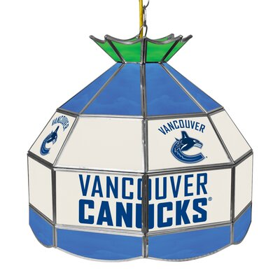 NHL Stained Glass 1-Light Bowl Pendant NHL Team: Vancouver Canucks