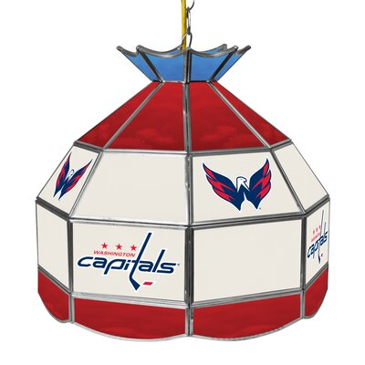 NHL Stained Glass 1-Light Bowl Pendant NHL Team: Washington Capitals