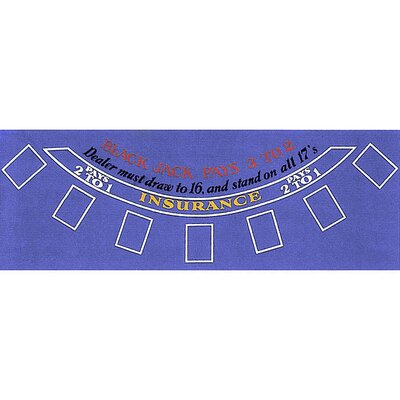 10-3010Blue Blackjack Layout 36 X 72 Inch Blue Felt