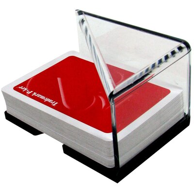 2 Deck Professional Grade Acrylic Discard Holder with Top 10-3105
