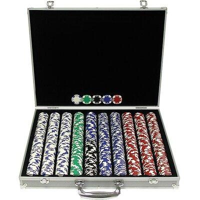1000 11.5g Hold Em Poker Chip Set With Aluminum Case 10-1055-1ks