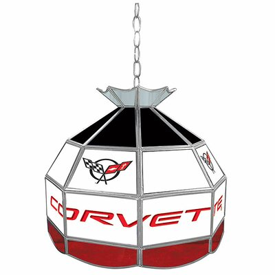 Corvette 16 Stained Glass Round Tiffany Lamp